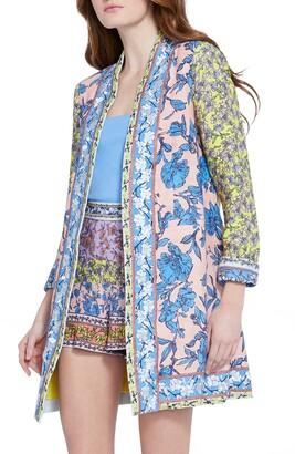 Alice + Olivia Simpson Linen Blend Blazer