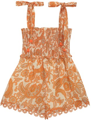 Zimmermann Peggy Shirred Playsuit
