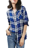 Topshop 'Ali' Check Double Pocket Shirt