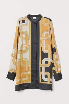 H&M Patterned Satin Blouse - Beige