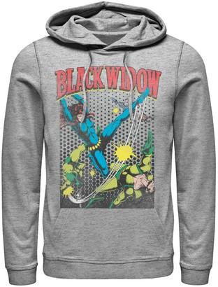 Marvel Men's Black Widow Classic Retro Comic Swing Hoodie