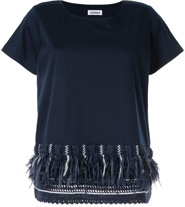 Coohem sailor fringe T-shirt
