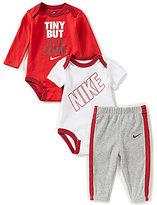 Nike Baby Boys Newborn-12 Months Long-Sleeve Bodysuit, Short-Sleeve Bodysuit & Pant Set