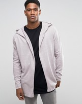 Asos Knitted Hoody Cardigan in Cotton