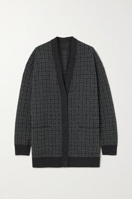 Givenchy - Intarsia Cashmere Cardigan - Gray