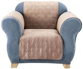 Sure Fit Soft Suede Chair Pet Cover-Taupe