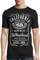 Novelty T-Shirts Short-Sleeve California Label Tee