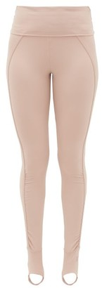 adidas by Stella McCartney Foldover-waist Stirrup Leggings - Womens - Light Pink
