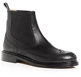 Clergerie Women's Rachel Brogue Wingtip Chelsea Boots