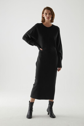 Cos Organic Cotton-Wool Mix Knitted A-Line Dress