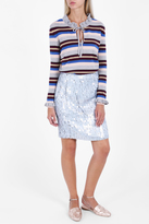Paul & Joe Stripe Ruffle Knit
