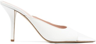 Gia Couture Pointed Toe 85mm Patent Leather Mules