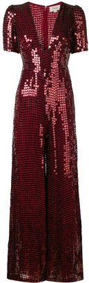 Temperley London Sequin Heart Jumpsuit