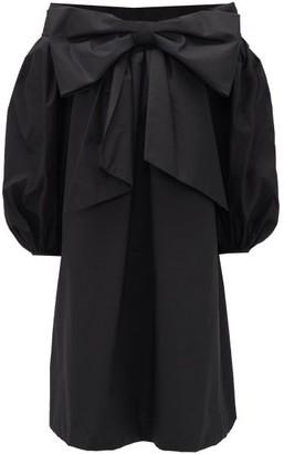 Françoise Francoise - Bow-front Off-the-shoulder Cotton Dress - Womens - Black