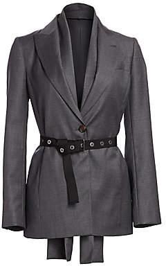 Brunello Cucinelli Women's Virgin Wool Belted Blazer