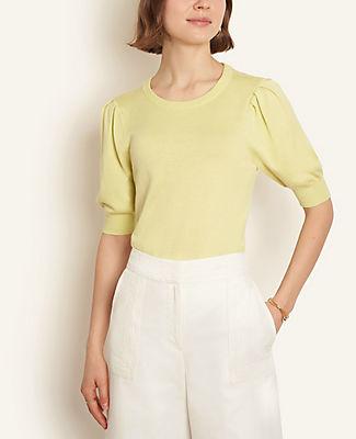 Ann Taylor Puff Sleeve Sweater Tee