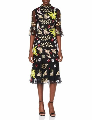 Frock and Frill Women's Karaline Embroidered midi Dress Formal Night