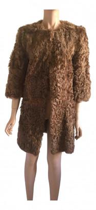 Stefanel Brown Mongolian Lamb Coats