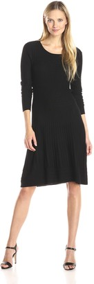 Adrianna Papell Women's Scoop Neck Long Sleeve Sweater