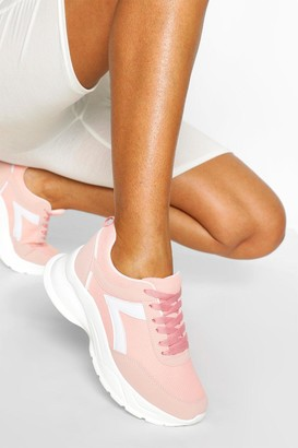 boohoo Chunky Lace Up Sports Trainer