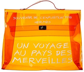 Hermes Orange Vinyl Kelly Ghw