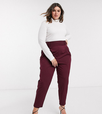 Asos DESIGN Curve tailored high waist balloon trouser