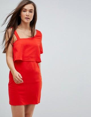 Vero Moda One Shoulder Dress-Red
