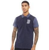 Blend Mens Puyol Polo Mood Indigo Blue