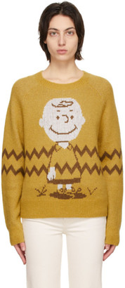 RE/DONE Yellow Peanuts Edition 50s Classic Sweater