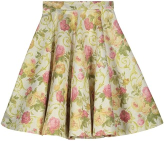 Monique Singh Iconic Romantic Indo Western Floral Midi Skirt