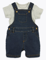Marks and Spencer 2 Piece Denim Dungaree Outfit