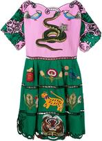 Gucci embroidered dress - women - Silk/Cotton/Linen/Flax/glass - 42