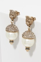 Gucci Feline earrings with crystals