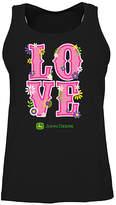 John Deere Black & Pink 'Love' Tank - Plus Too