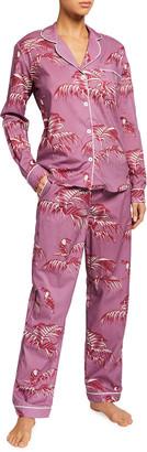 Desmond & Dempsey Bocas Classic Long-Sleeve Pajama Set