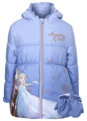 Disney George Frozen 2 Anna & Elsa Coat with Mittens