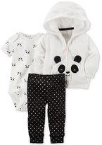 Carter's 3-Pc. Panda Hoodie, Bodysuit & Pants Set, Baby Girls (0-24 months)