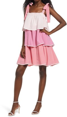ENGLISH FACTORY Tiered Swing Dress