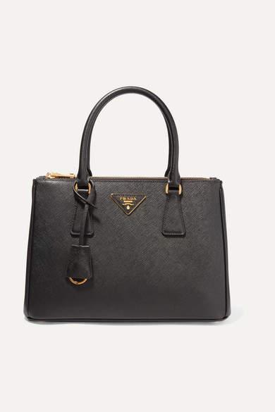 Prada Galleria Medium Textured-leather Tote - Black