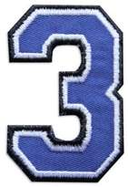 Logophile Embroidered Number Patch