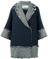 Gianluca Capannolo woven raw edge coat - women - Acrylic/Polyamide/Virgin Wool - 40