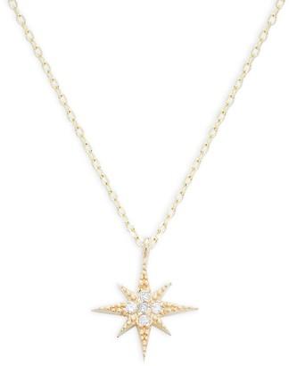 Saks Fifth Avenue 14K Yellow Gold & Diamond Star Pendant Necklace