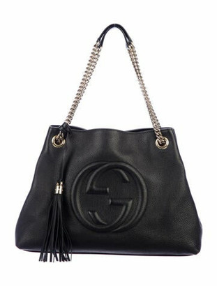 Gucci Soho Leather Shoulder Bag Black