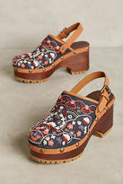 See by Chloe Embroidered Floral Wedges