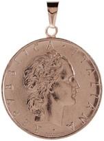 Italian Gold 50 Lire Coin Pendant, 14K