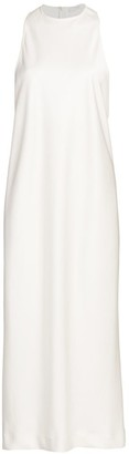 Tibi Celia Draped Sleeveless Bias Dress