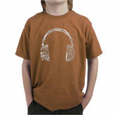 LOS ANGELES POP ART Los Angeles Pop Art The Word Music In Different Languages Boys Graphic T-Shirt