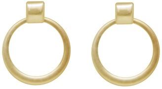 Ettika Gold Tone Worn Statement Ring Earrings