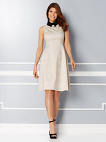 New York & Co. Eva Mendes Collection - Maria Collared Jacquard Dress