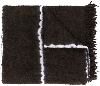 Suzusan Fringed Knitted Scarf